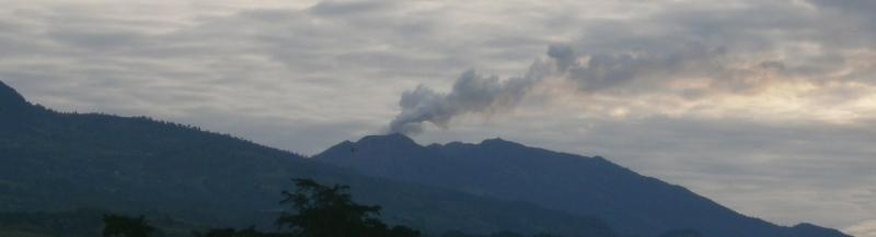 Vulkan Turrialba aktiv