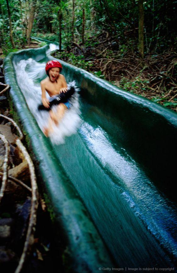 Dschungel-Rutschbahn Costa Rica