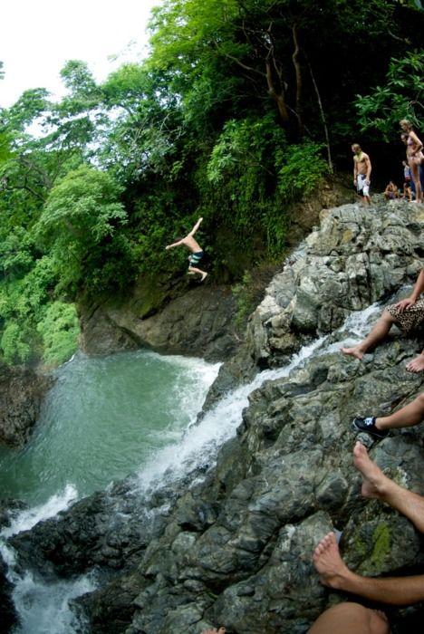 Wasserfall Sprung