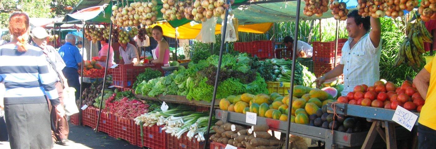 Lebensmittel einkaufen in Costa Rica