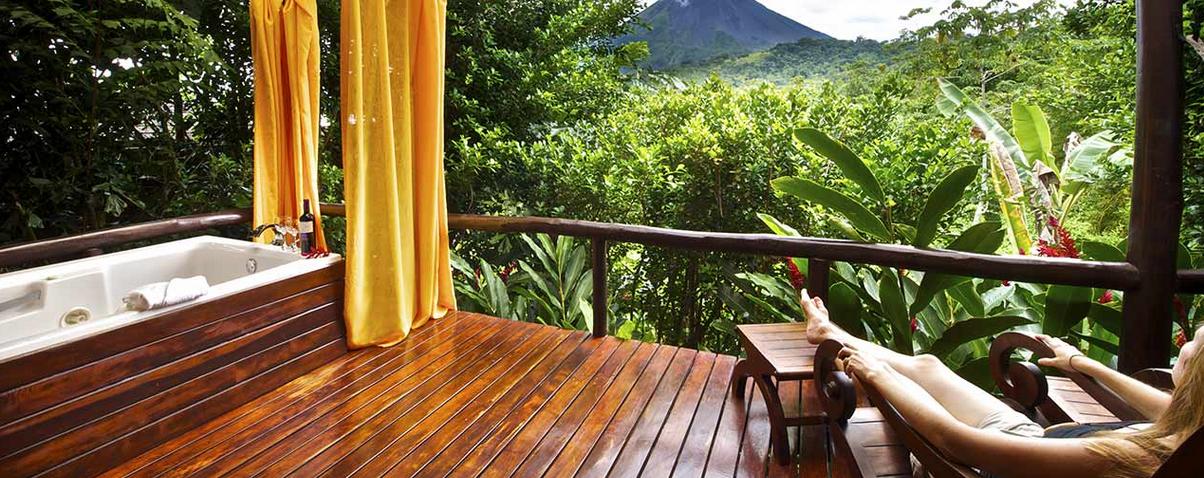 Zimmer mit Sicht zum Vulkan |Foto: Hotel Nayara Spa & Gardens