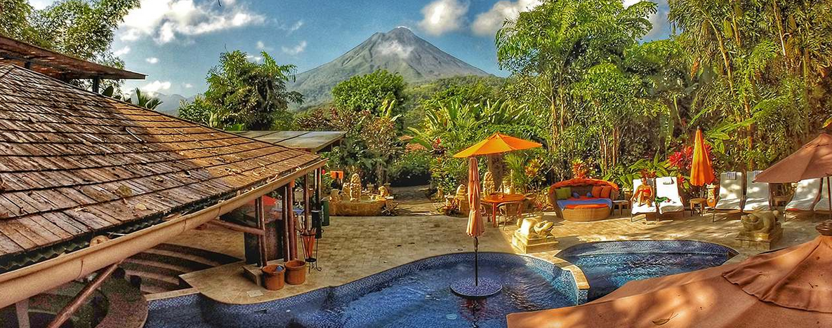 Aussicht zum Vulkan vom Hotelgeände aus |Foto: Hotel Nayara Spa & Gardens