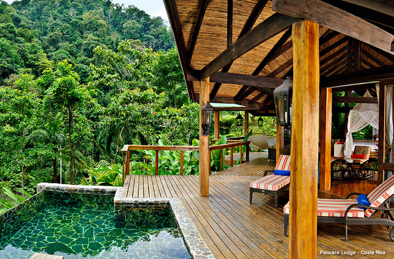 Privater Pool mit Terrasse vor dem Zimmer | Foto: Pacuare Lodge