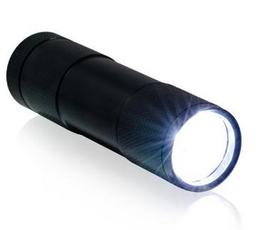 Spritzwassergeschützte Taschenlampe mit LED