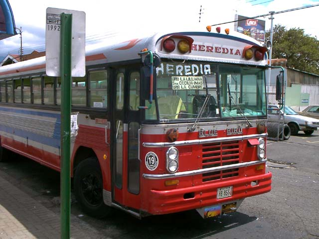 Lokaler Bus in Costa Rica