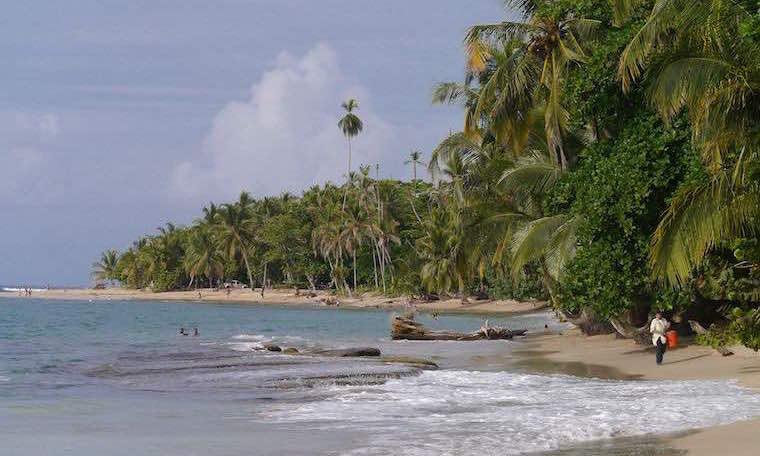 Strand in Puerto Viejo, Costa Rica