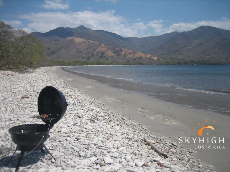 Einsamer Strand in Costa Rica
