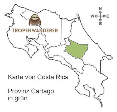 Provinz Cartago auf der Karte von Costa Rica