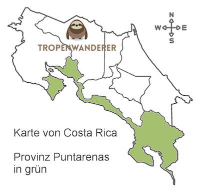 Provinz Puntarenas auf der Karte von Costa Rica
