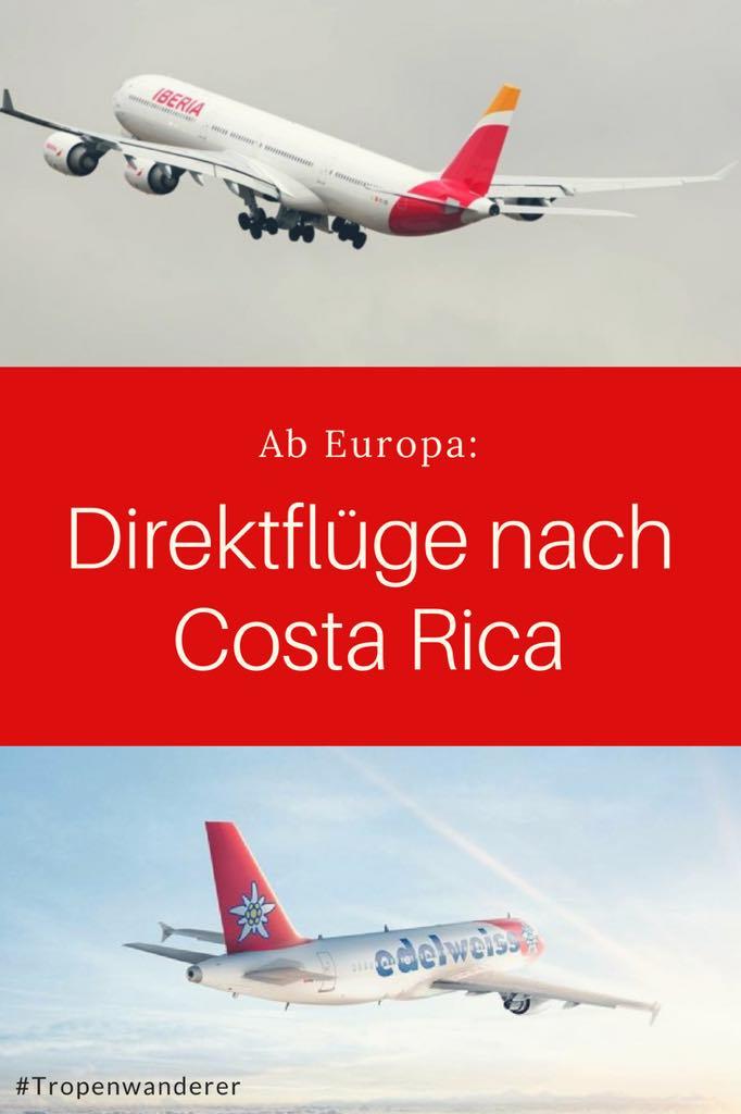 Direktflüge ab Europa nach Costa Rica