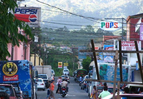 Im Stadtzentrum von Turrialba
