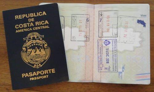 Reisepass von Costa Rica